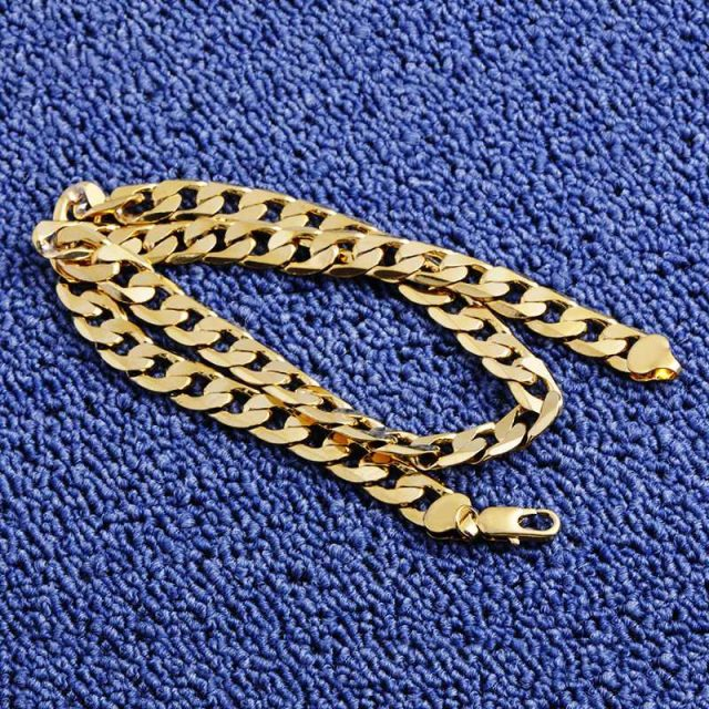 Gold Color Necklace For Women and Men Chains & Necklaces Chains & Necklaces Men's Accessories Women Accessories