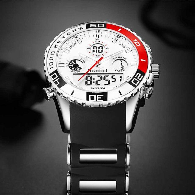 Sport Watches Men Waterproof Men's Accessories Watches Color : Red|Blue|Black